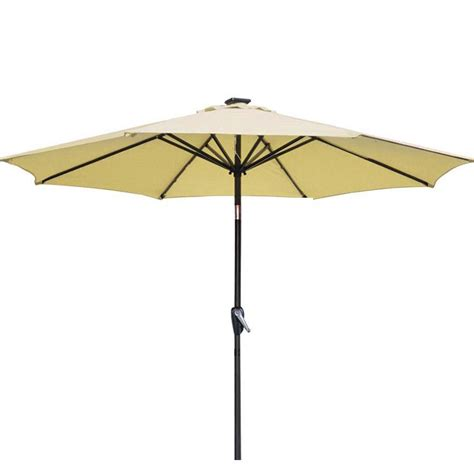 Metal Patio Umbrella New Patio Umbrella 9 Aluminum Patio Market Umbrella Tilt W Crank Outdoor 1012
