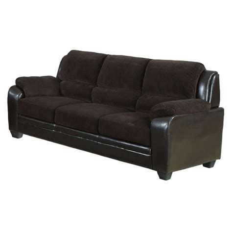 Venetian Worldwide Barton Chocolate Brown Corduroy Sofa