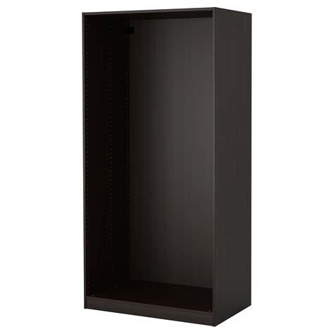 pax wardrobe frame black brown 100x58x201 cm ikea