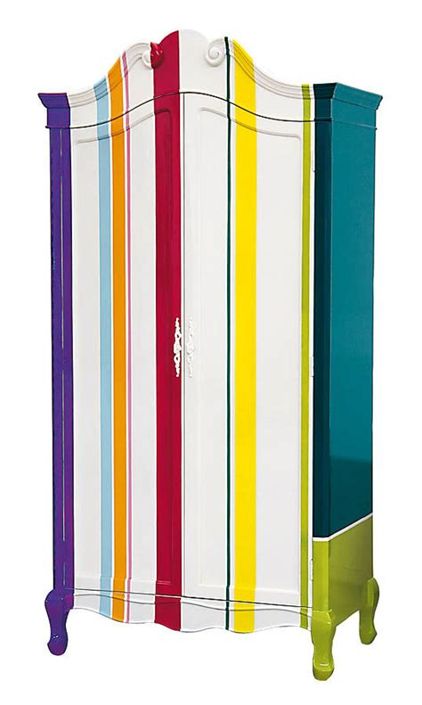 Coloured Wardrobes multi coloured stripy wardrobe by out there interiors notonthehighstreet