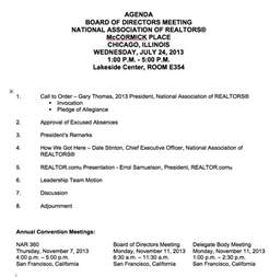 vendor meeting agenda template will nar let realtor soar