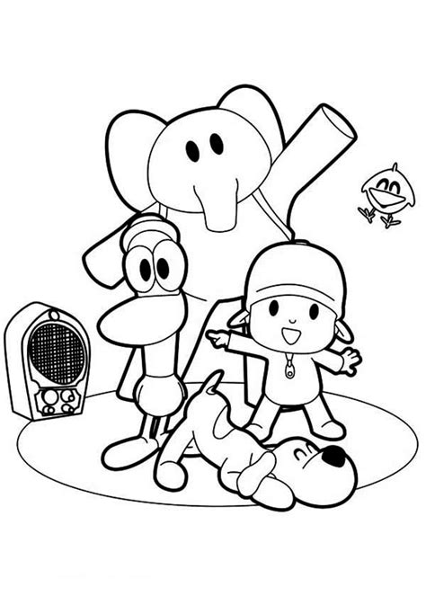 printable pocoyo coloring pages coloring me