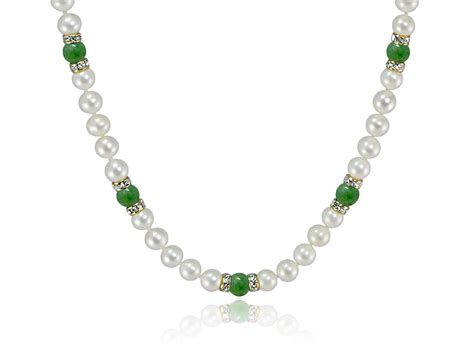 Gemstone Necklace freshwater pearl and gemstone necklace choose your color