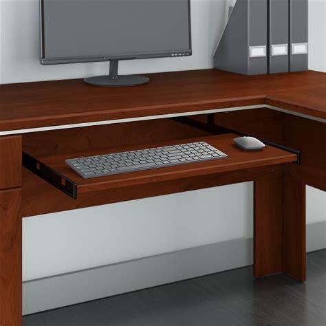bush hansen cherry desk bush furniture tuxedo l shaped desk with storage in hansen