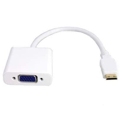 Taffware Adapter Hdmi Ke Vga Dengan Audio Hd008 1 adapter mini hdmi ke vga dengan audio white jakartanotebook