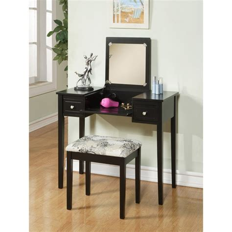 linon home decor vanity set with butterfly bench