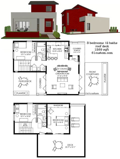 contemporary house plan 17 best ideas about small modern houses on
