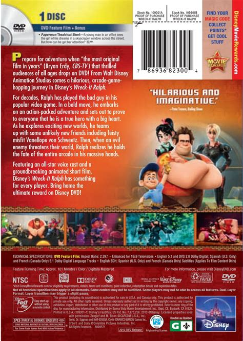 dvd format full hd image wreck it ralph dvd north american back page jpg