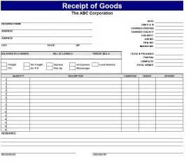 Goods Receipt Template Receipt Of Goods Template Sample