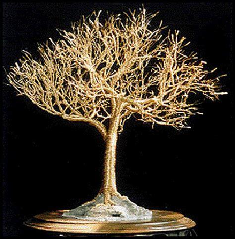 Gold Tree - artwork gt gt sal villano wire tree sculpture gt gt golden elm