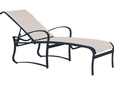 tropitone chaise tropitone shoreline sling aluminum chaise lounge 150032