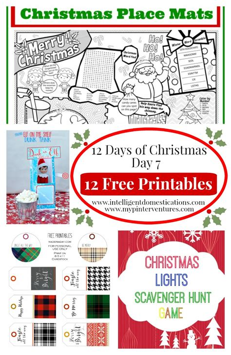 12 days of christmas on pinterest christmas door decorations 12 days of free printable