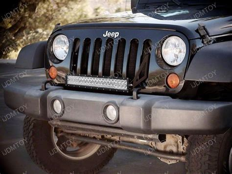 Jeep Light Bar by 20 Quot 120w High Power Led Light Bar Kit For Jeep Wrangler Jk