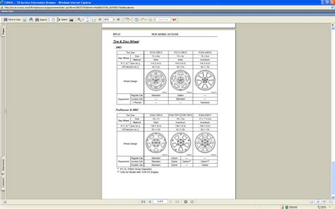 Toyota Wheel Size Chart On The 2006 Toyota Tacoma Xrunner What Are The Exact Size
