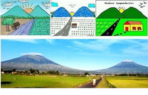 gambar gunung khas anak tk sd ini ternyata ada di indonesia