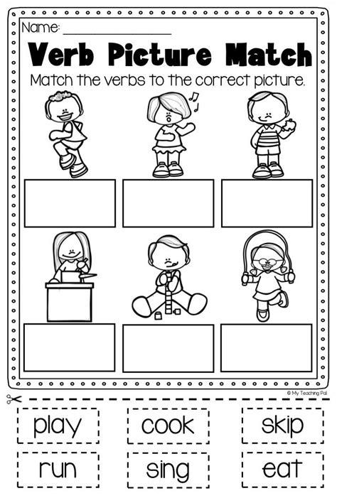Verbs For Kindergarten Worksheets by Verbs Worksheet It Covers Verbs Past Present