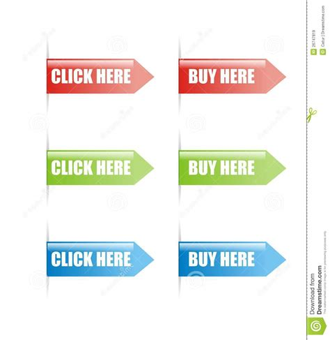 Click And Buy Click And Buy by Click And Buy Here Sign Vector