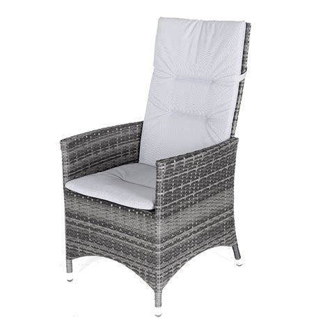 grey rattan club chair kensington club 110cm table with 4 rattan reclining dining