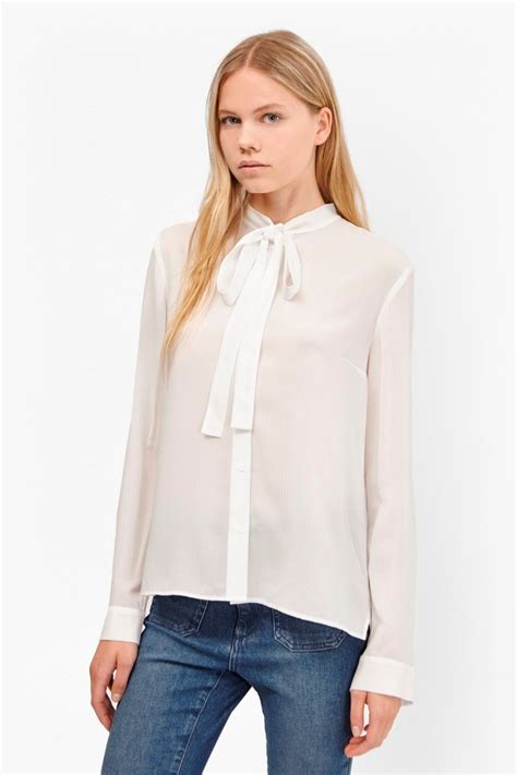 Lewis Tie Neck Blouse by Pippa Plains Tie Neck Shirt Collections Connection