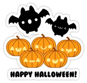 Wall Candy Stickers quot halloween adorable kawaii pumpkins and bats quot stickers by