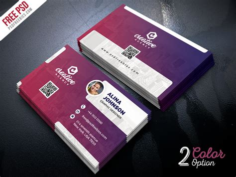 creative visiting card templates psd creative business card template psd set by psd freebies