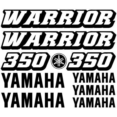 Yamaha Warrior Aufkleber yamaha 350 warrior set 30 215 20 cm aufkleber sticker tuning