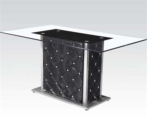 Rectangular Glass Top Dining Table Nancy By Acme Ac71385 Rectangular Glass Top Dining Table