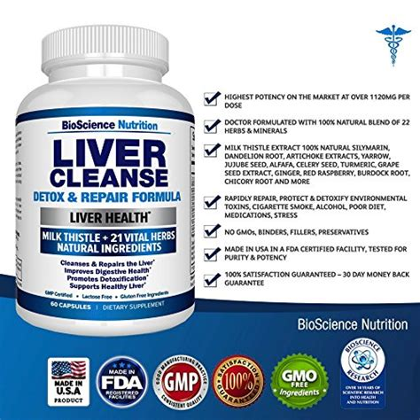 Liver Detox Support Herbs And Nutrients by Liver Cleanse Detox Repair Formula End 6 17 2020 7 54 Am
