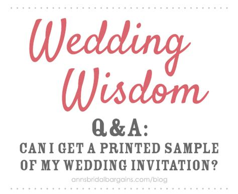 Where Can I Get Wedding Invitations by Can I Get A Printed Sle Of My Wedding Invitation