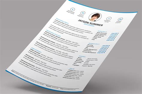 10 executive resume template word psd indesign format graphic cloud