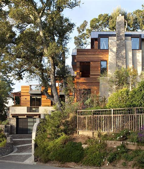 awesome wooden home designs with hillside inspirations
