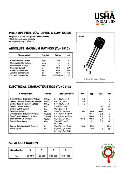 c9012 pnp transistor datasheet datasheet transistor c9012 28 images la1186n datasheet pdf datasheetcafe 9012 transistor