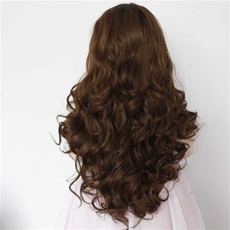 curly brown hair looking stringy 2017 new black root brown ombre synthetic wavy lace front