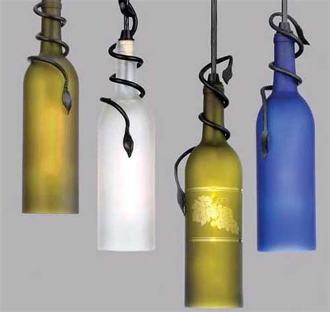 Mbt Lighting by Little Pink Apples Wine Bottle Chandelier