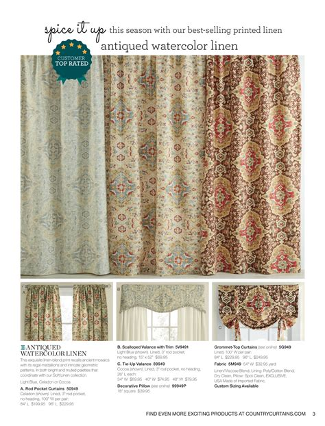 Country Curtain Catalogs Curtain Menzilperde 28 Images