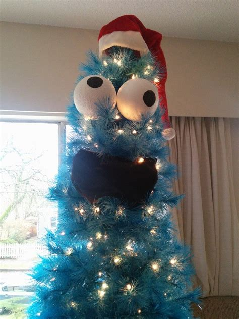 diy cookie monster christmas tree