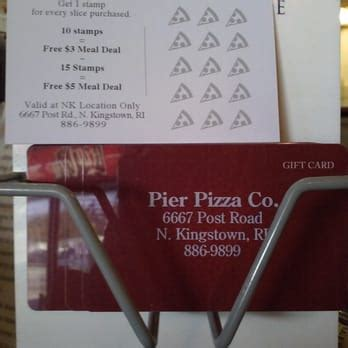Pier W Gift Card - pier pizza company 13 reviews pizza 6667 post rd n kingstown ri united states