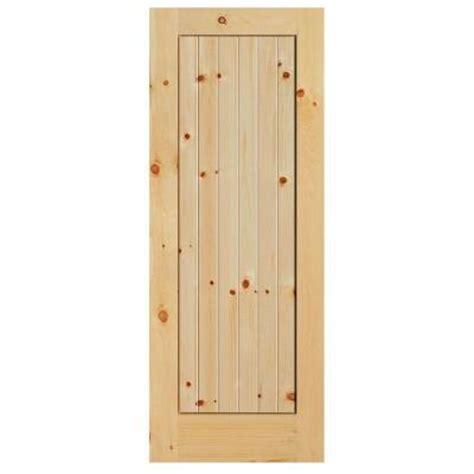 84 Lumber Interior Doors by Masonite 36 In X 84 In Knotty Pine 1 Panel Shaker V