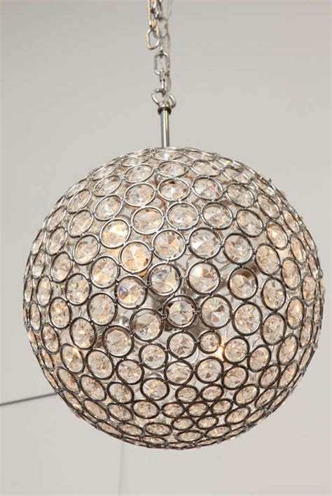 Modernist Quot Disco Ball Quot Chandelier At 1stdibs Disco Chandelier