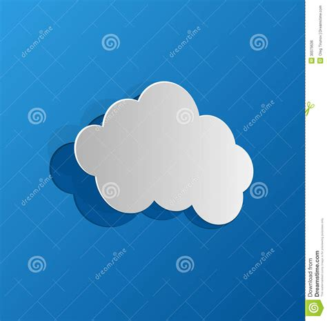 How To Make 3d Clouds Out Of Paper - cut out cloud blue paper royalty free stock image image