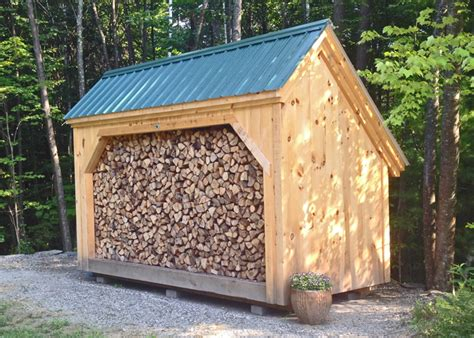 woodbin post beam firewood storage shed kit easy