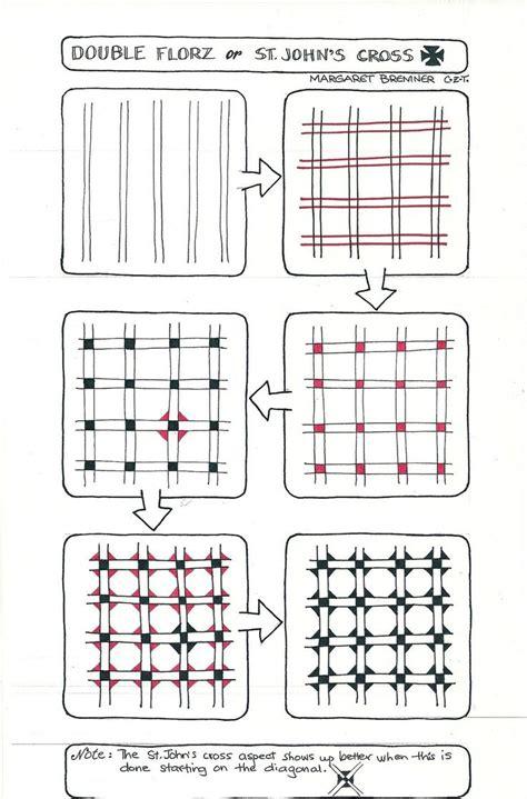 zentangle pattern directions enthusiastic artist st john s cross a florz tangelation