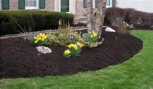 pictures of landscaping mulch instalations vision landscaping inc
