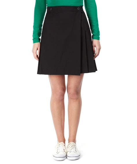 american apparel pleated school skirt in black designer
