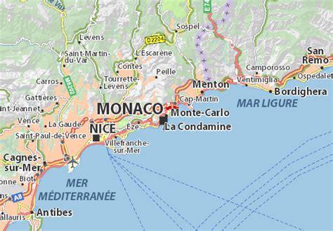 map of monte carlo map of monte carlo michelin monte carlo map viamichelin
