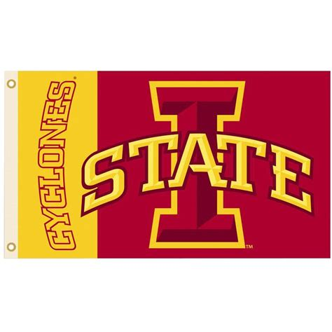 bsi products ncaa 3 ft x 5 ft iowa state flag 95222