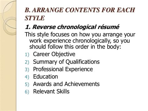 What Is The Best Definition Of A Chronological Resume by Chronological Order Resume