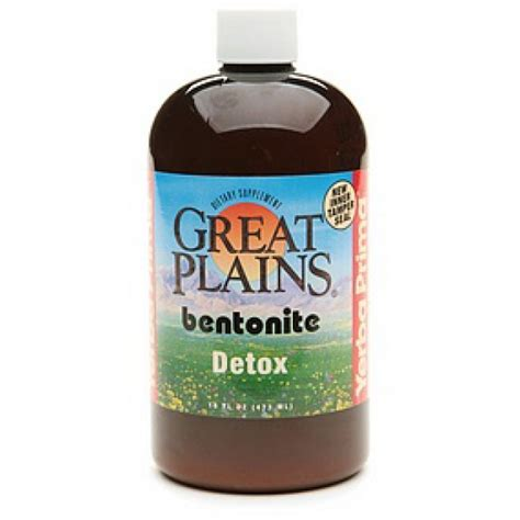 Bentonite Liquid Detox by Yerba Prima Great Plains Bentonite Detox 16 Fl Oz The