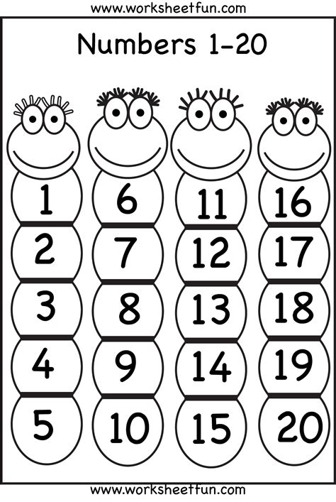 printable numbers chart 1 20 missing number worksheets 1 20 quotes