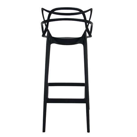 ribbon stool in black